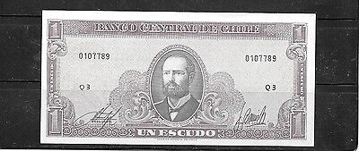 Chile #106 Unc Mint 1964 Escudo Old Banknote Paper Money Currency Bill Note