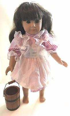 "nice AMERICAN GIRL doll retired 18"" SAMANTHA in BIRTHDAY DRESS"