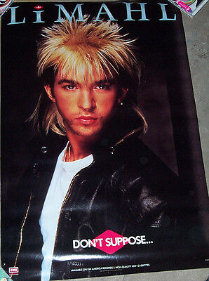 "Limahl ""don't Suppose"" Lp Promo Poster"