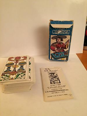 AG MUller Switzerland Vintage Classic Tarot Cards 1974 US GAmes Systems