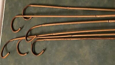 Vintage Group Of Six (6)  Carnival/ Circus Bamboo Canes