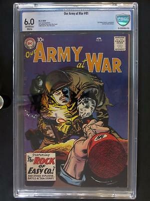 Our Army At War #81 - CBCS 6.0 FN - DC 1959 - Last Sgt. Rock prototype - RARE!!!