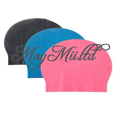 Hot Products Silicone Swimming Cap Stretch Water Proof Swim Hats Children/Adults