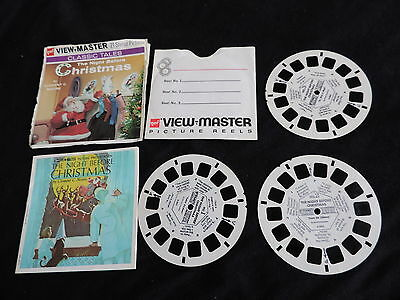 OLD GAF NIGHT BEFORE CHRISTMAS VIEWMASTER REEL SET free shipping