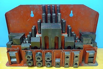 """BRIDGEPORT HOLD DOWN CLAMPS SET 1/2"""" STUDS machinist tools"""