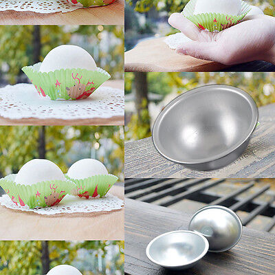 Hot 2Pc Aluminum Utility Ball Sphere Bath Bomb Mould DIY Pastry Cake Baking Mold