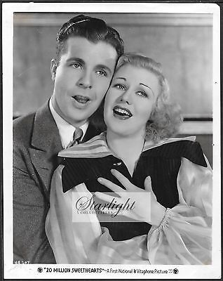 Ginger Rogers Dick Powell ORIGINAL 1934 Portait Photo 20 Million Sweethearts