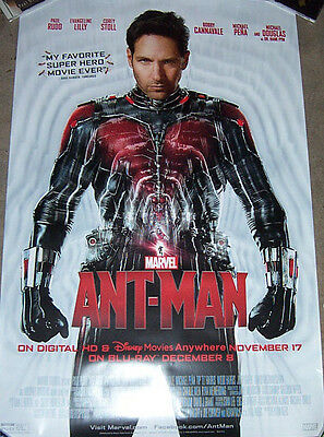 """ant Man"" Movie Bluray/dvd Promo Poster Marvel"