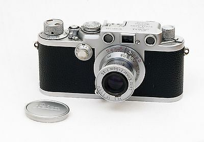"""Leica Iiif """"red Scale"""" + Elmar 5Cm """"red Scale""""."""