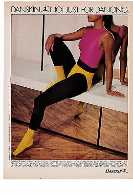 """1970's Danskin Not Just For Dancing """"Freestyle Collection"""" Vintage Print Advert"""