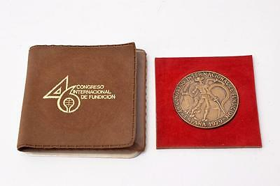 46 Congreso Internacional De Fundicion Medal Espana 1979 Badge Spain Spanish