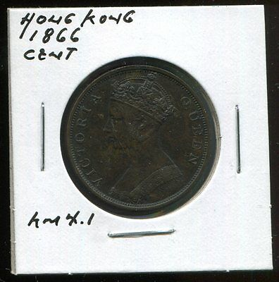 ** Hong - Kong 1866 (Victoria) Large Cent **