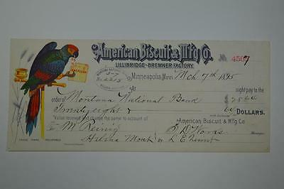 Minneapolis MN American Biscuit & Manufacturing Co 1895 Dated Receipt for $28.64