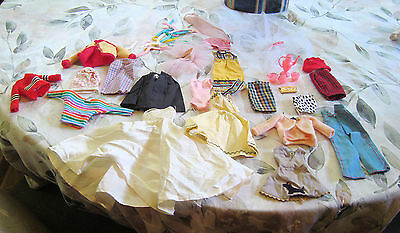 1960s 70s  Vintage Barbie Clothes Poodle some tagged & homemade ++ Lot 34 pcs