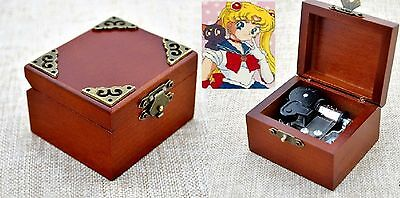 Vintage Classic Square Wind Up Music Box : Sailor Moon Moonlight Densetsu