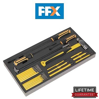 Sealey S01131 Tool Tray with Prybar Hammer & Punch Set 23pc
