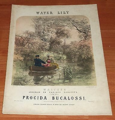 Victorian Pictorial Sheet Music..water Lily..waltzes.