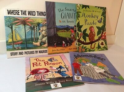 Job Lot - Children's Reading Books - Where The Wild Things Are, Monkey Puzzle...