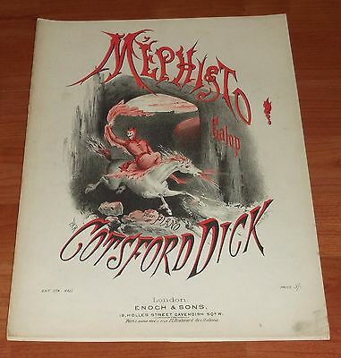 Victorian Pictorial Sheet Music..mephisto Galop..cotsford Dick.