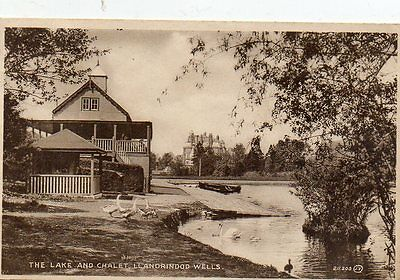 """""postcard The Lake And Chalet,llandrindod Wells,wales """""