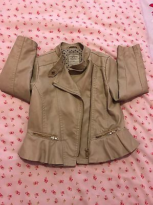 Girls Soft Leather Look Natal an Jacket Age 4/5 Years