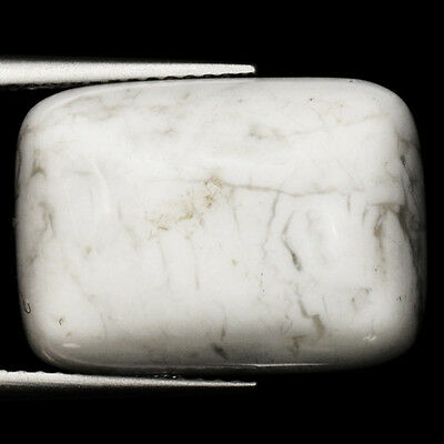 14.34 Cts Very Rare White Color Natural Howlite Loose Gemstones