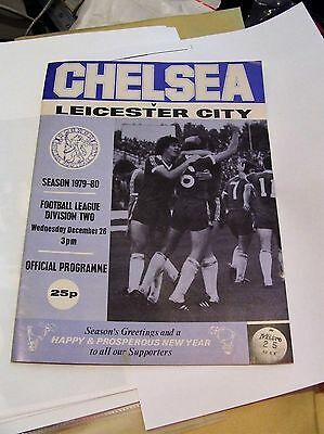 chelsea vs leicester city 1979-80 football programme division 2