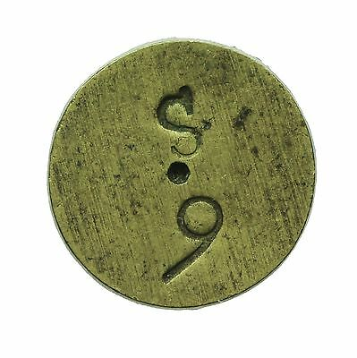 English Brass Coin Weight For Portuguese Quarter Joe  S9
