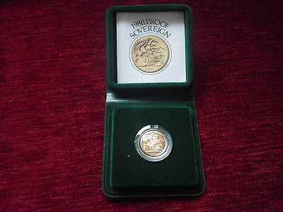 Royal Mint 1980 Full Proof Gold sovereign