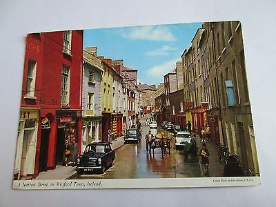 Postcard of A Narrow Street In Wexford Town, Ireland posted 1965