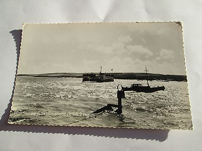 Postcard of The Floating Bridge to Shell Bay M4165 unposted RP Valentine's