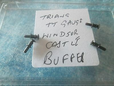 TRI-ANG `TT GAUGE` RARE ITEMS (FOUR METAL BUFFERS) for T91 WINDSOR CASTLE LOCO