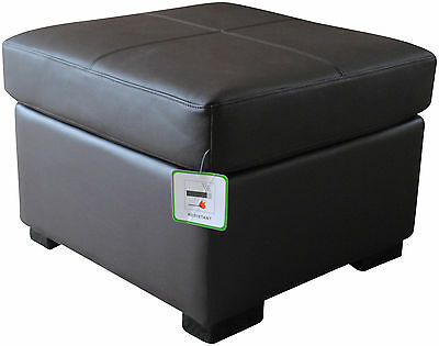 Genuine BRAND NEW Real Leather DARK BROWN Footstool Pouffe