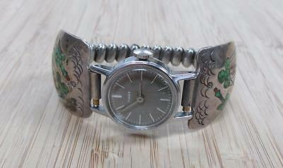 Timex Women's Wristwatch with Native American Sterling Silver Lugs ~ 13-I3970
