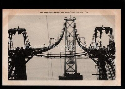 4 x U. S. A. SAN FRANCISCO - OAKLAND BAY BRIDGE CONSTRUCTION POSTCARDS - 25