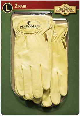 Plainsman 2 Pair Premium Cabretta Leather Gloves Small Medium Large Extra Large