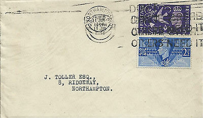 GB 1946 Victory Set (2) on FDC with Northampton Don't Waste Bread Slogan Cancel