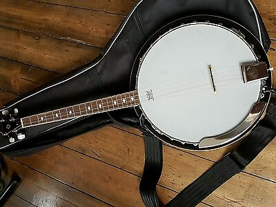 Stagg BJM30 4DL - 4 String Banjo with Carry case and strap