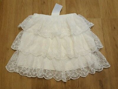 BNWT girls skirt 8-9 years cream layered beautiful h&m NEW