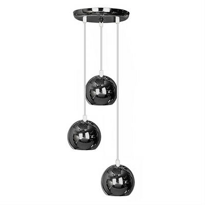 Modern Black Chrome Retro 3 Way Multi Ceiling Pendant Light Fitting
