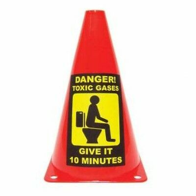 Caution Cone - danger toxic gas, give it 10 minutes, secret Santa joke gift