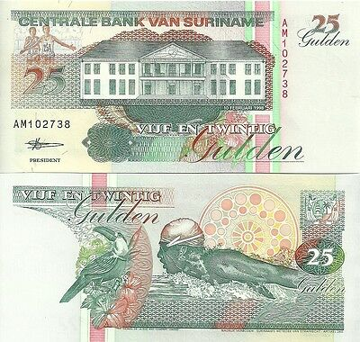 N-16-2, SURINAME, 25 GULDEN (10th February 98) P138, UNCIRCULATED