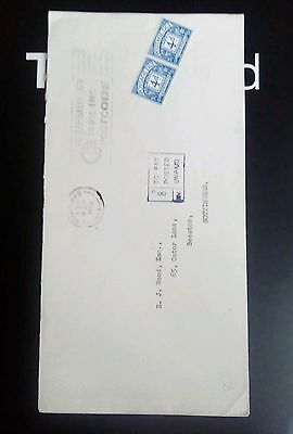 ENVELOPE GB NOTTINGHAM 1968 Postage due stamps  underpaid
