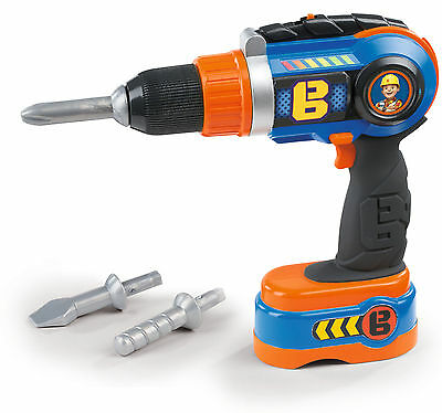 360128 Bob the Builder Cordless Mechanical Drill & x3 Bits Boys Tool Toy Age 3+