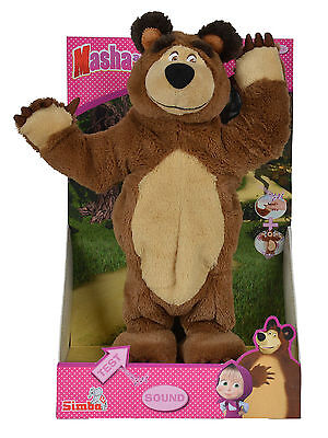 109308236 Masha and the Bear Singing & Dancing Bear 33cm Musical Soft Toy Age 3+