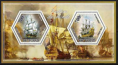 (A296) TCHAD 2014 Sailing ships  Voiliers  Segelschiffe  MNH