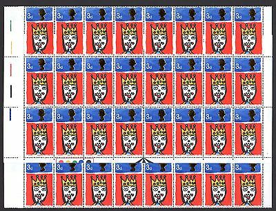 (21) VERY GOOD COMPLETE SHEET OF 1966 QEII 3d CHRISTMAS (sg713p) UNMOUNTED MINT