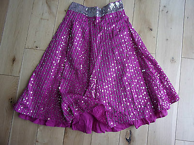 New MARKS & SPENCER GIRLS BOUTIQUE Raspbery Pink Sequin Skirt age 10 years