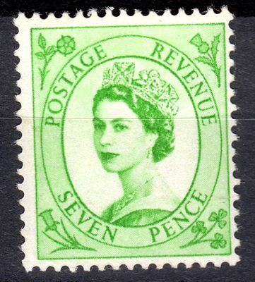 (37) VERY GOOD 1956 QEII 7d GREEN (sg549) UNMOUNTED MINT