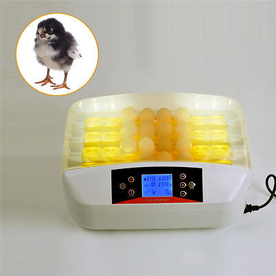 Automatic Digital 32 Egg Turning Incubator Chicken Hatcher Temperature Control